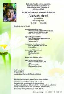 Martha Mackels