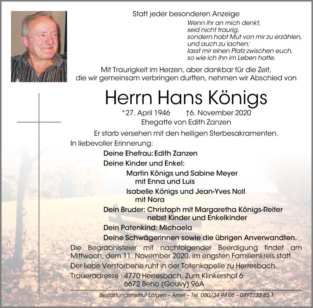 Hans Königs