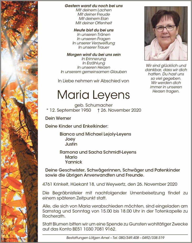 Maria Leyens