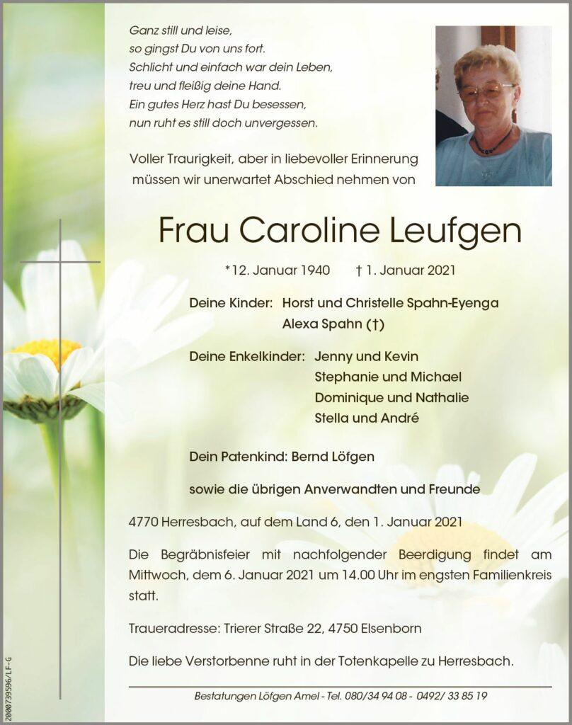 Caroline Leufgen
