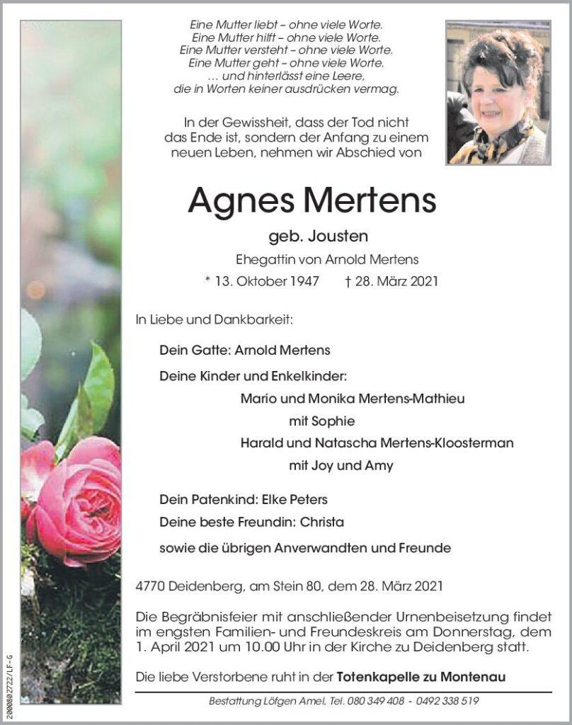 Agnes Mertens