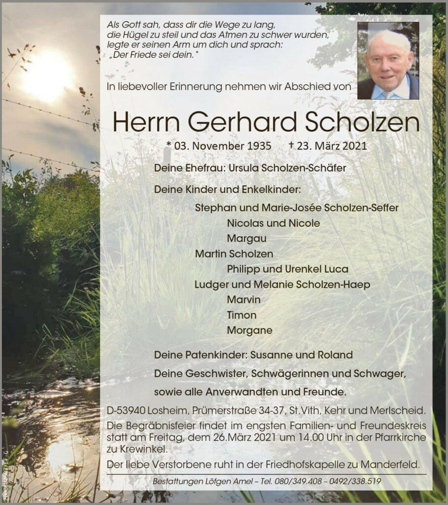 Gerhard Scholzen