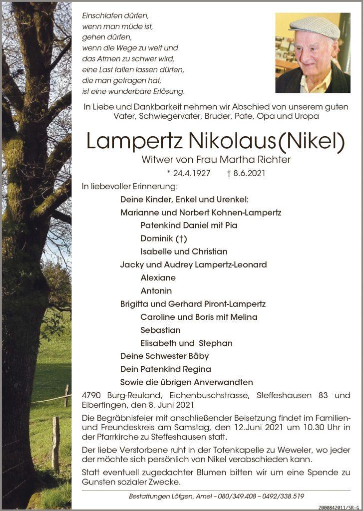 Nikolaus (Nikel) Lampertz