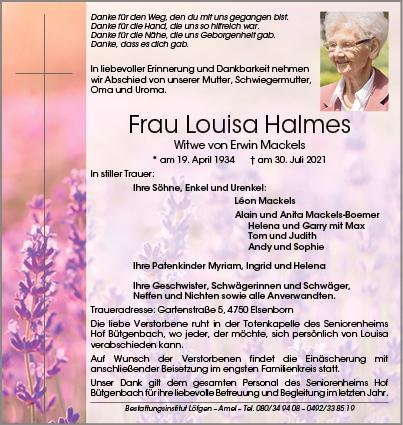 Louisa Halmes