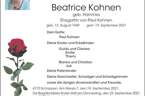 Beatrice Kohnen